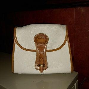 Vintage Dooney & Bourke White Essex Crossbody Bag